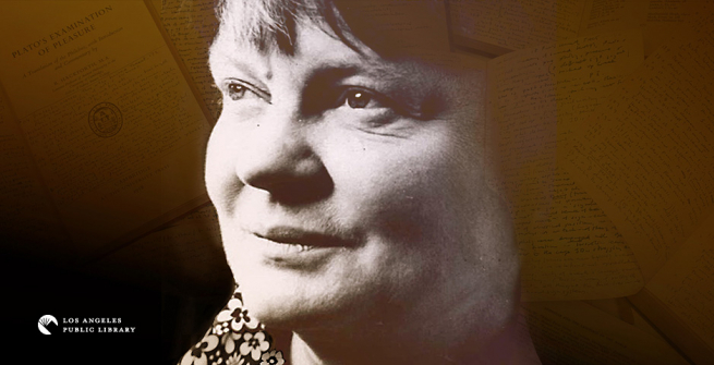 English novelist and philosopher, Iris Murdoch
