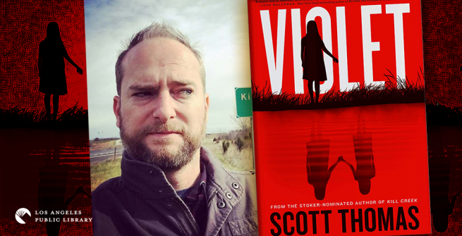 Scott Thomas and his latest novel, Violet