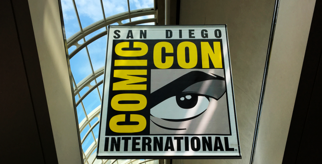 Comic-Con Banner at the San Diego Convention Center in 2017