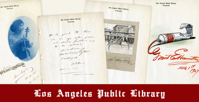4 autographs from the Lummis Collection