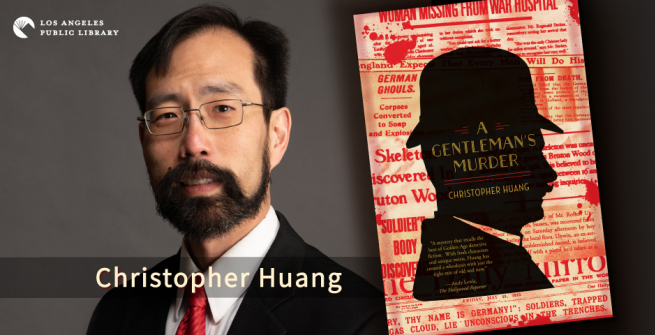 Author Christopher Huang and his book, A Gentleman's Murder