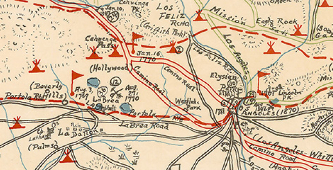 Section of Historic Map of Los Angeles