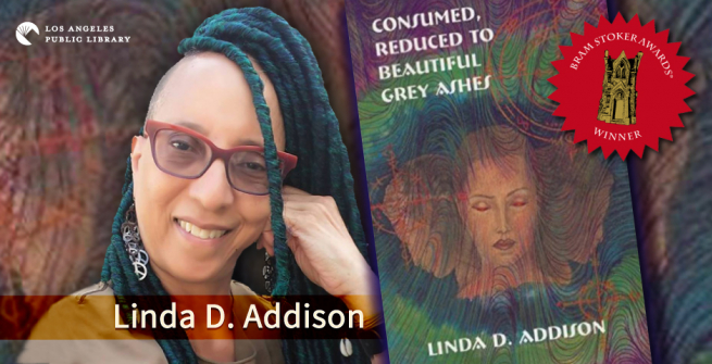 Linda Addison and her award winning book
