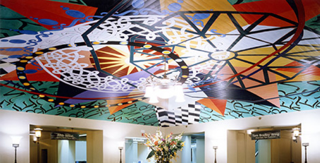 The Seven Centers Ceiling in the Main Lobby