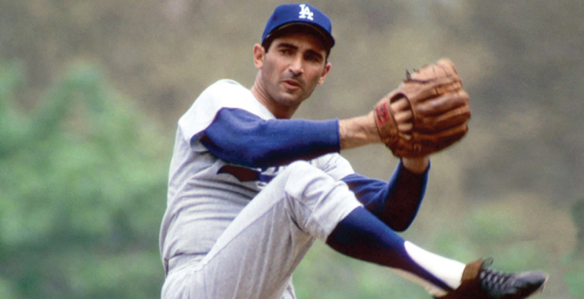 Sandy Koufax at the pitch