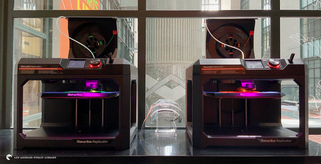 Octavia Lab's 3D printers making face shields
