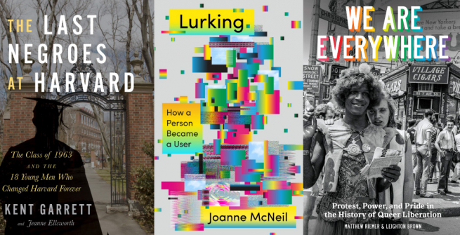 Three book collage of nonfiction titles