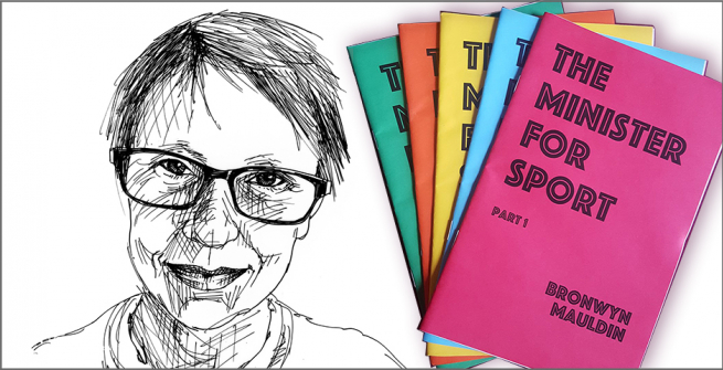 Bronwyn Mauldin and her collection of zines
