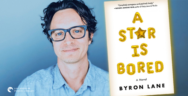 Playwright and screenwriter, Byron Lane and his first novel, A Star is Bored.