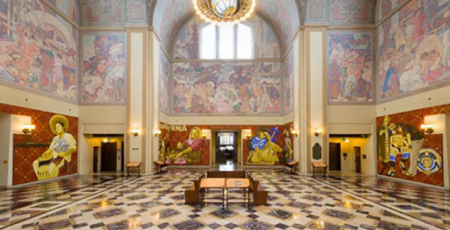 Photo of Rotunda with the entire Oaxaca exhibit displayed in it's entirety