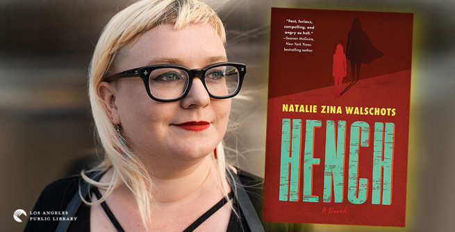 Author Natalie Zina Walschots and her debut novel, Hench