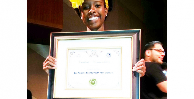 New L.A. Youth Poet Laureate, Amanda Gorman, 16, A student at New Roads High School