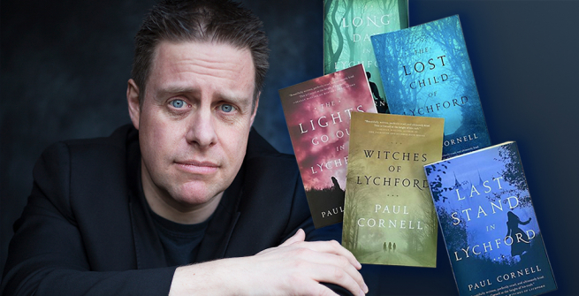 Author Paul Cornell and his book series, Witches of Lychford