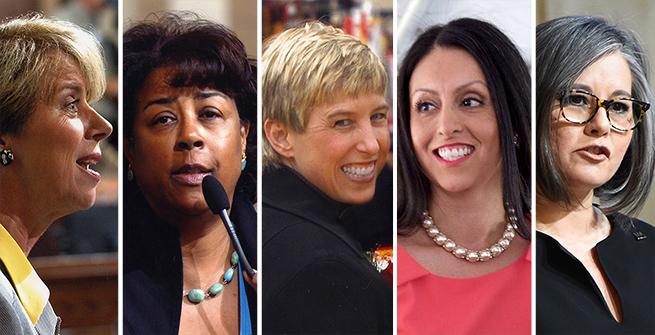 City of Los Angeles Councilwomen: Janice Hahn, Jan C. Perry, Wendy Greuel, Nury Martinez, and Monica Rodriguez