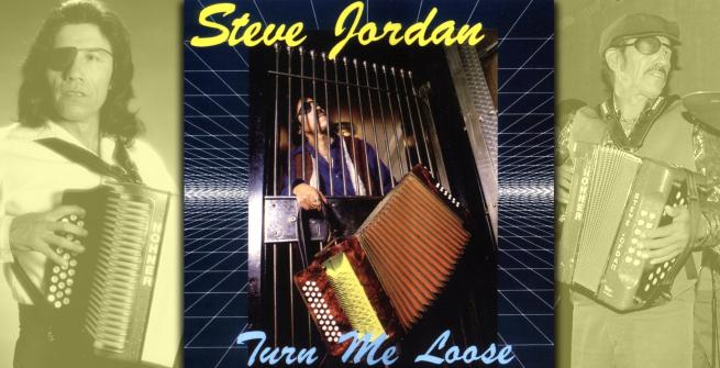 "Esteban ""Steve"" Jordan on the cover of his album, Turn Me Loose"