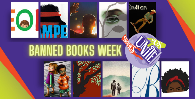 collage of this years banned books titles