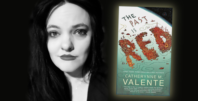 Author Catherynne M. Valente and her latest book, The Past is Red