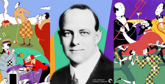 P. G. Wodehouse with Jeeves book covers