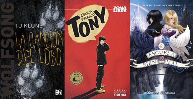 three YA books in Spanish