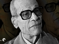 Portrait of Egyptian novelist Naguib Mahfouz