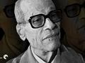 Portrait of Egyptian novelist Naguib Mahfouz