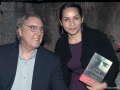 author John Katzenbach with librarian Ana Campos