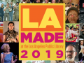 LA Made logo surrounded by photos of performers