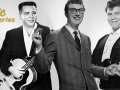 "Singers Buddy Holly, Ritchie Valens, and J.P. ""The Big Bopper"" Richardson"