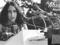 Singer Joan Baez performing at the 1963 Civil Rights March on Washington.