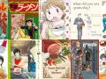 collection of manga comics covers