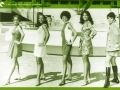 Five women pose in front of the Los Angeles County Museum of Art in 1968