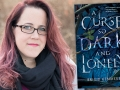 Author Brigid Kemmerer and her latest book, A Curse So Dark and Lonely