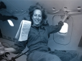Author Mary Roach experiences weightlessness on a parabolic flight