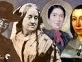 Collage of four historical women