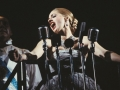 """""""Bob Gunton and Patti LuPone as Juan and Eva Peron singing """"Don't Cry For Me, Argentina"""" in a scene from the Broadway production of the musical """"Evita."""""""