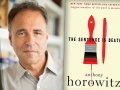 Anthony Horowitz and his latest Mystery series book, The Sentence is Death.