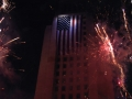 fireworks at Los Angeles City Hall