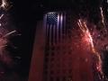 fireworks at Los Angeles City Hall