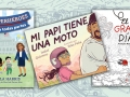 3 children's book covers in Spanish