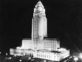 Los Angeles City Hall Lit Up At Night