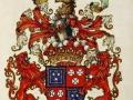 Groovy, complicated heraldic achievement