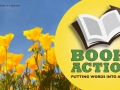 California poppies, and Book to Action logo