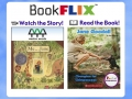 image of Bookflix logo with 2 picture book covers