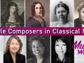 collage of portraits from female composers