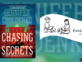 Cover of the book Chasing Secrets and text that reads essay contest
