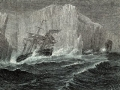 """HMS Terror and the HMS Erebus by G. Hartwick in """"The Polar World,"""" 1874"""