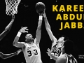 Kareem Abdul-Jabbar shoots his famous skyhook shot