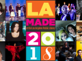 group photo of various artists and musicians and LA Made logo