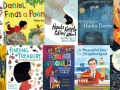 Collage of poetry books for children