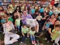children and parents participating in read, baby, read